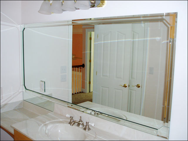 Custom Bathroom Vanity Mirror Cut And Installation