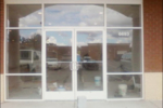 commercial glass door entry way installation