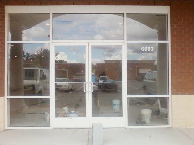 Exterior commercial glass doors glass exterior door for Commercial exterior doors