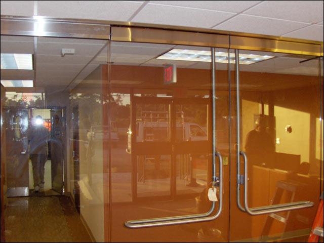 custom heavy glass door installation