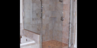 heavy glass shower door installation - yorktown, va