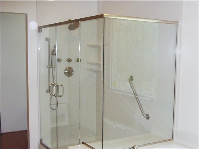heavy glass shower enclosure installation - gloucester va