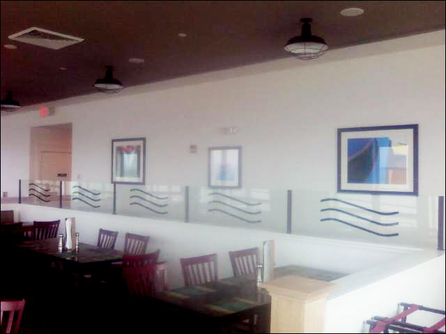 restaurant wall custom glass divider