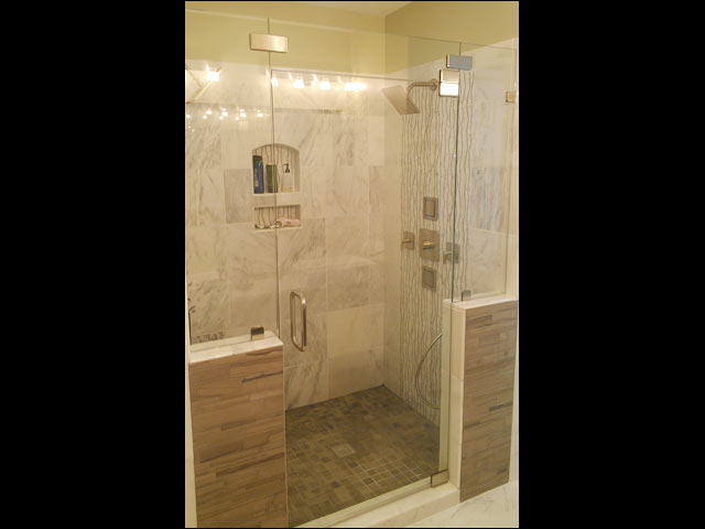 heavy glass shower door installation - hampton va