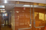 custom heavy glass door installation