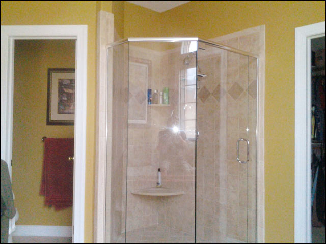 frameless neo-angle shower enclosure - suffolk, va