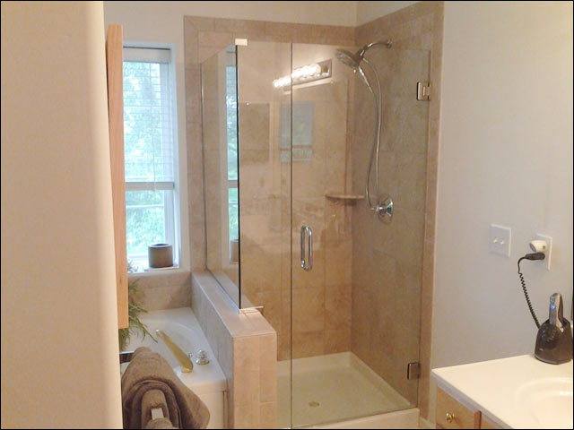 custom frameless glass shower enclosure - seaford - york county, va