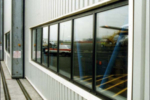 industrial facility window glass repair installation