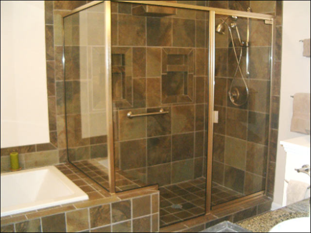 framed shower door installation - newport news va