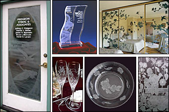 newport news custom etched glass